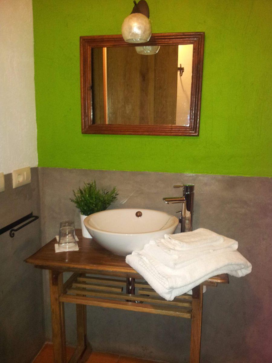Baño-habitación-verde